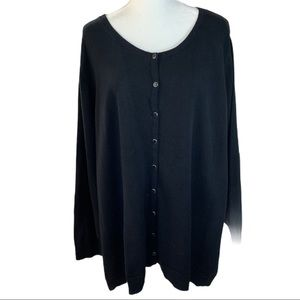 Catherines Sweaters - 🎀 Catherine Black Button Down Cardigan- Size 4X